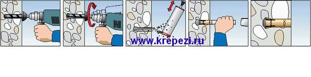 Пример крепежного узла с использованием забиваемого анкера FZEA.