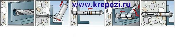 Пример крепежного узла с применением высоконагрузочного анкера FH