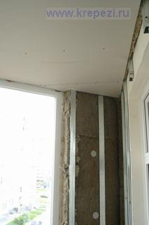 Потолок лоджии из гипсокартона