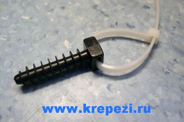 Дюбель нейлоновый для кабельной стяжки