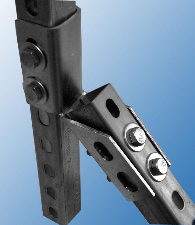 Уголок сборочный УСК38-45, элемент жесткости стойки
